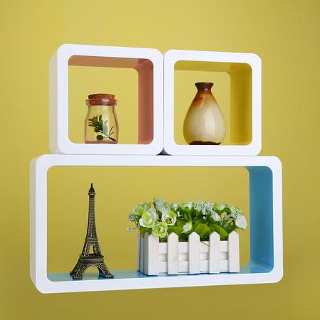 Cube Wall Shelves,3 COLORS Home DIY Decorative Random Combination ...