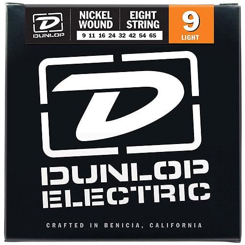 Dunlop - DEN0965 - Nickel-Plated Steel Light 8 String Electric Guitar Set - .009-.065