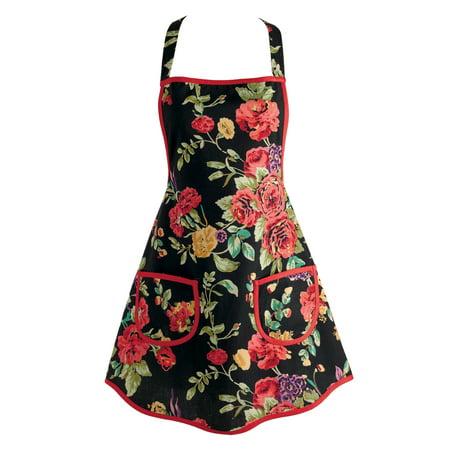 DII Wild Rose Vintage Kitchen Apron, 30