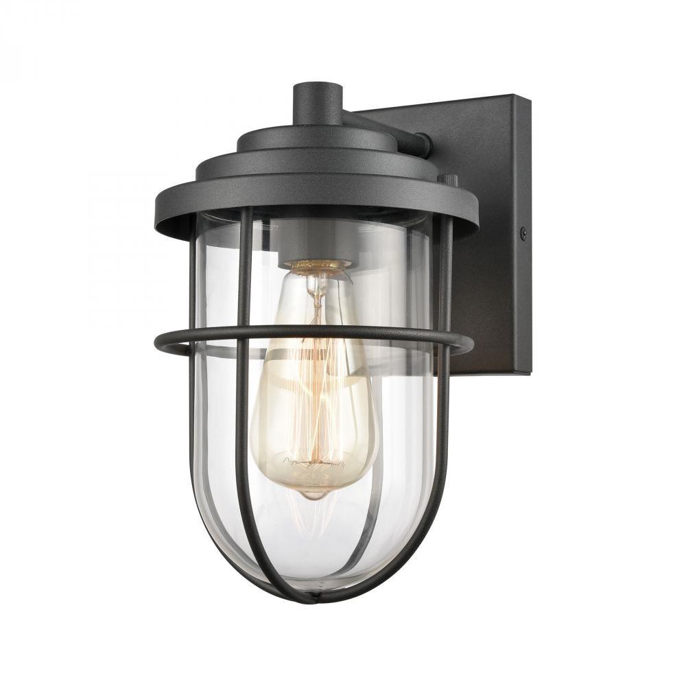 Coastal Farm 1-Light sconce in Charcoal by Elk Lighting 69372/1 in Black Finish