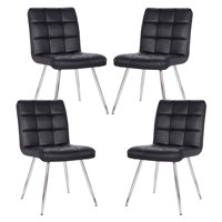 Poly and Bark Petras Vegan Leather Chair in Black (Set of 4)