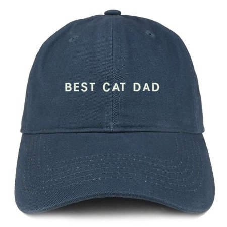Trendy Apparel Shop Best Cat Dad Embroidered Soft Cotton Dad Hat - Black -  Walmart.com 0d9735cf6cf