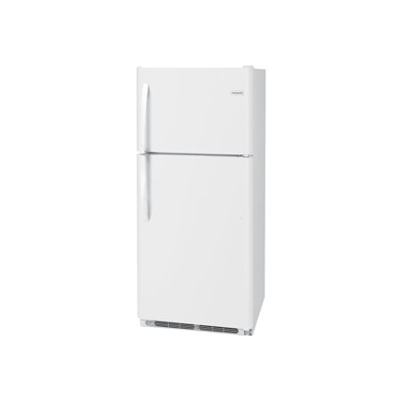 FFTR2021TW 30 Top Freezer Refrigerator with 20.4 cu. ft. Total Capacity  2 Full Width Glass Refrigerator Shelves  1 Full Width Wire Freezer Shelf  Reversible Door  and 2 Crisper Drawers  in White