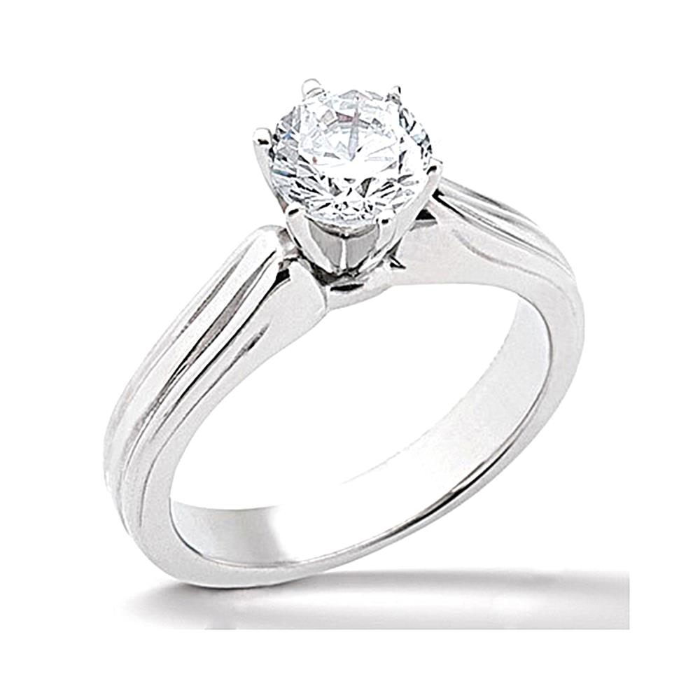 Diamond F VS1 solitaire gold wedding ring 2.01 carats siz...