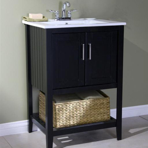 Legion Furniture 24'' Single Bathroom Vanity Set with Basket