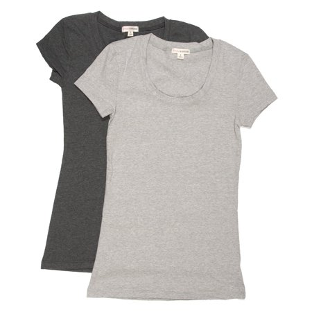 4960993e5 Zenana - NEW Womens Basic Scoop Neck Short Sleeve Tee T-Shirt 2 or 4 ...