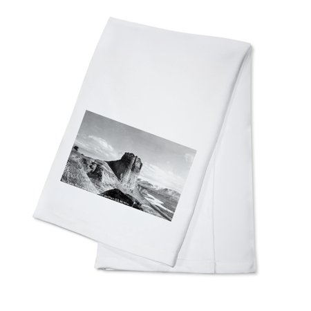 Wyoming   Us Hwy 30 View Of Toll Gate Rock  Green River Photograph  100  Cotton Kitchen Towel