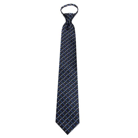 Mens Black Pattern Designer Zipper Zip Up Necktie