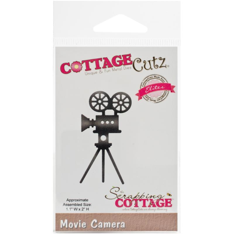 """CottageCutz Elites Die, Movie Camera, 1.1"""" x 2"""""""