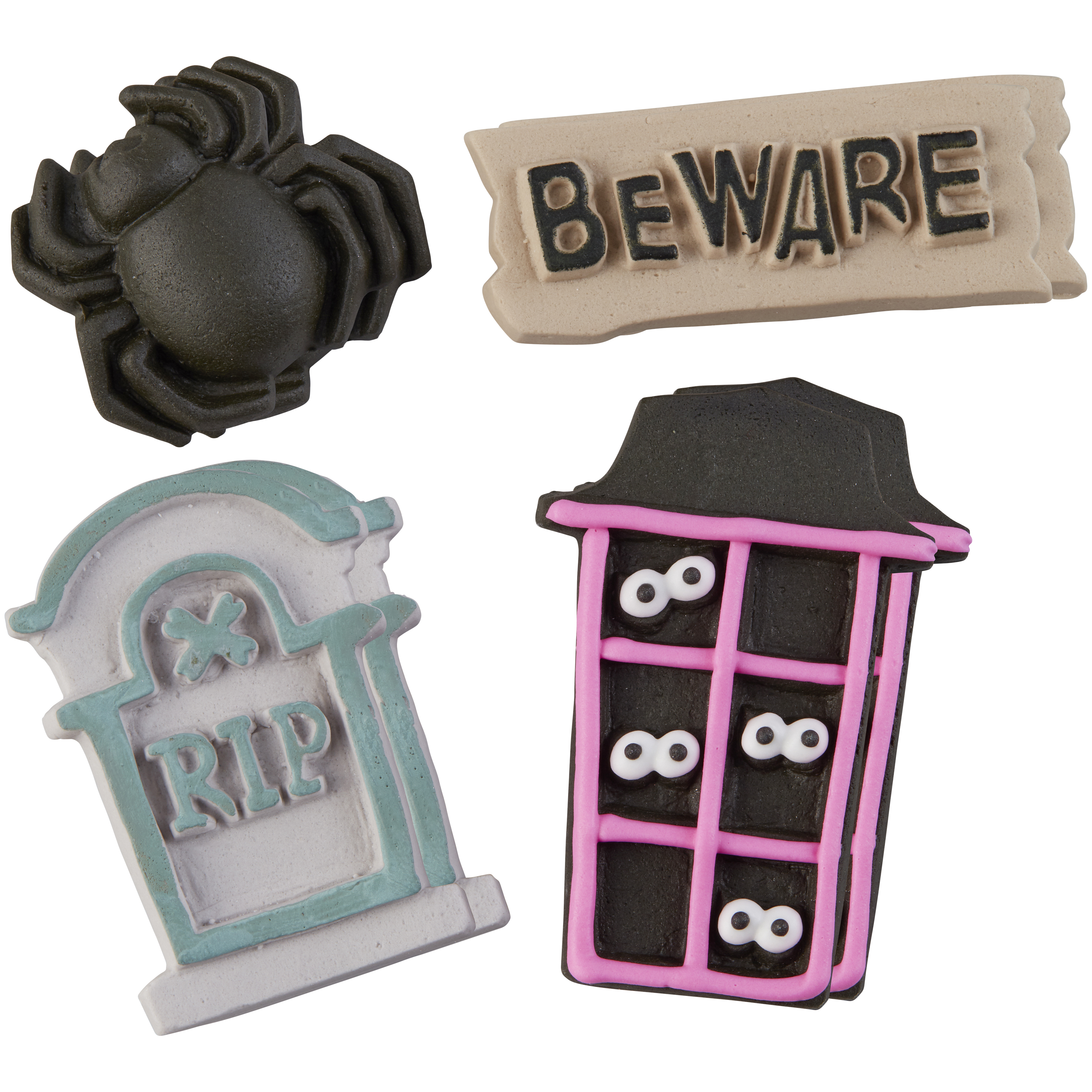 Wilton Halloween Cookie House Icing Decorations, 4-Count ...