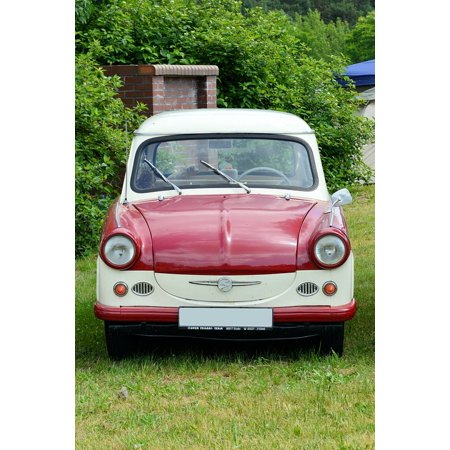 Framed Art for Your Wall Historically Auto Eastern Mobile Old Trabant 500 10x13 (Exchange Your Old Mobile For A New One)