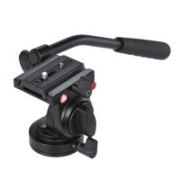 Handgrip Video Photography Fluid Drag Hydraulic Tripod Head for Canon Nikon DSLR Camera Camcorder Max. Load Capacity 5kg / 11Lbs Aluminum Alloy
