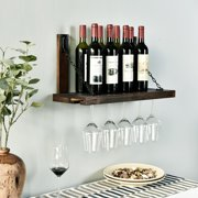 WELLAND Karen Wall Mounted Wine Racks with Glass Holder