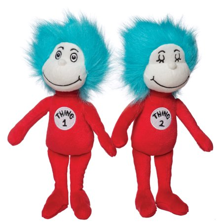Manhattan Toy Dr. Seuss Thing 1 & Thing 2 Plush Toy Set - Thing One Thing Two