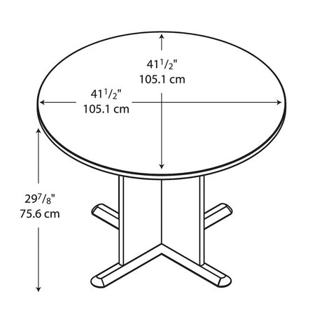 Bush Business Series A/C 42 Inch Round Conference Table in Cherry - image 5 de 7