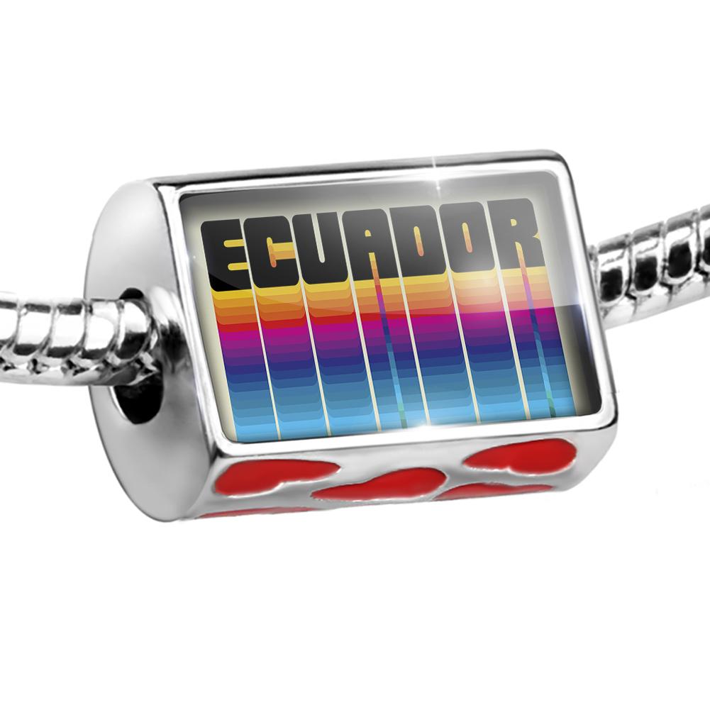 Bead Retro Cites States Countries Ecuador Charm Fits All European Bracelets