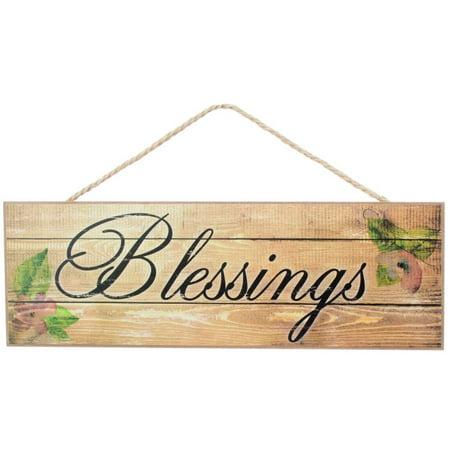 Rustic Farmhouse Decor Blessings Sign - 15