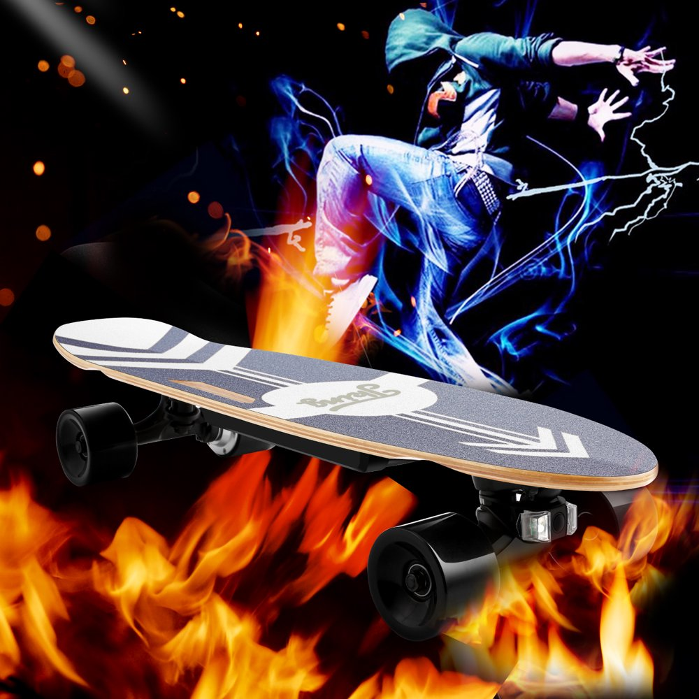 28inch 7 layers rock 3-Speed Electric Skateboard Lithium Battery Powered with Remote Controller Onli