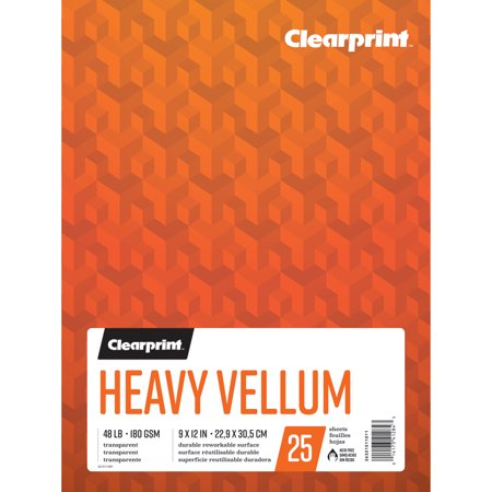 Clearprint Heavy Vellum Pad, 9in x 12in