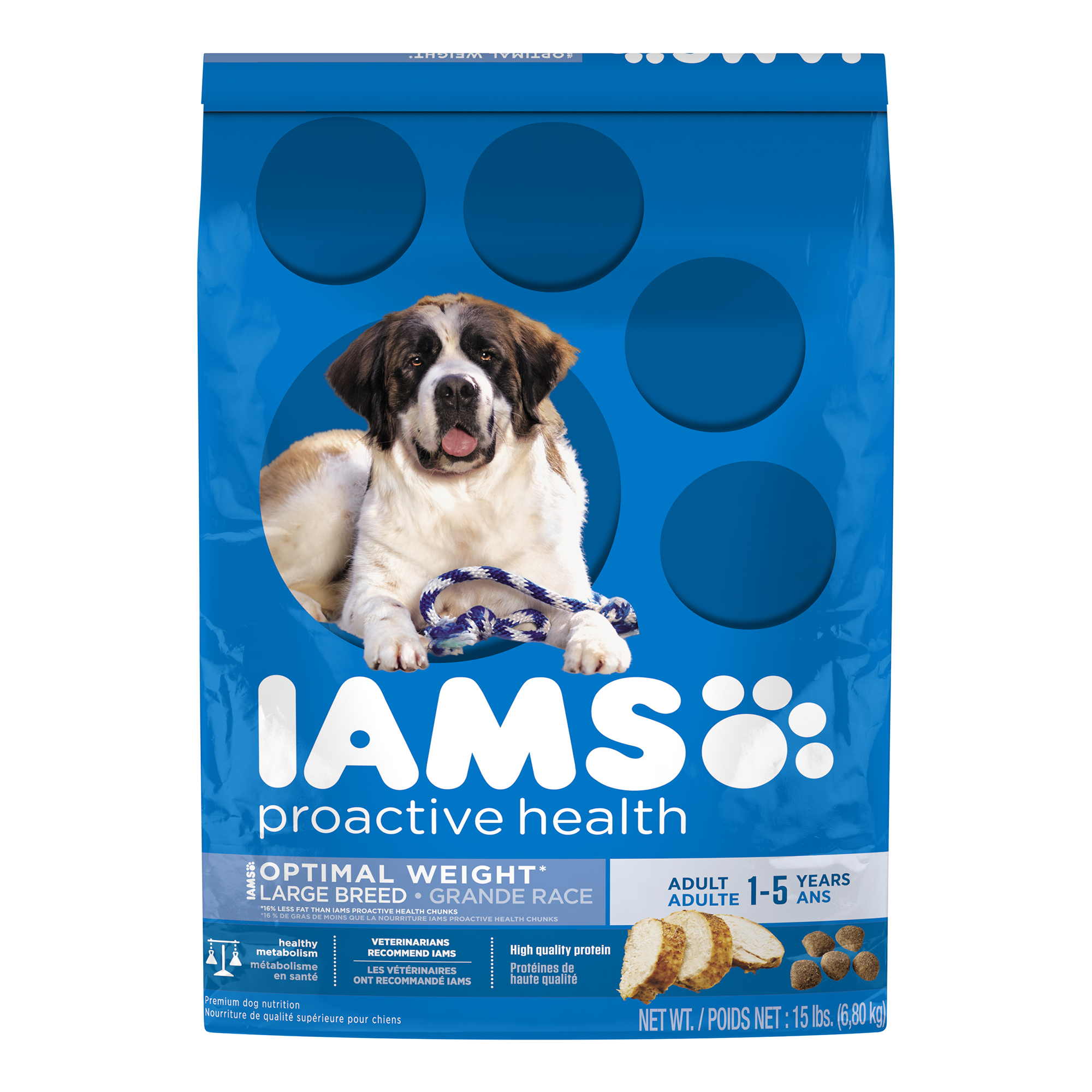IAMS PROACTIVE HEALTH Adult Large Breed Weight Control Dry Dog Food 15 Pounds