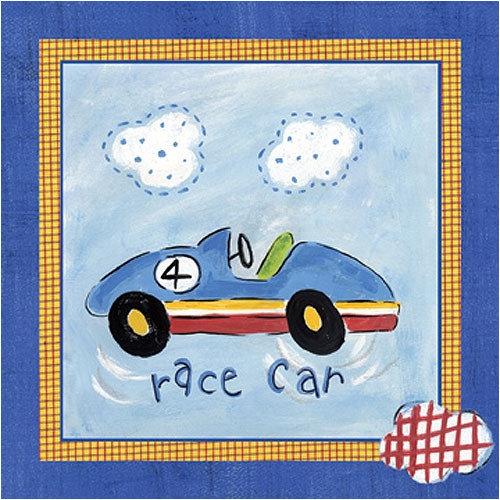 Art 4 Kids Go Man Go Race Car Contemporary Mount Art