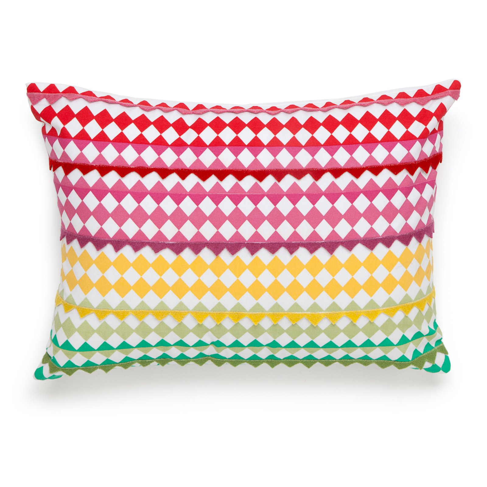 Collier Campbell English Bloom Checkered Decorative Pillow