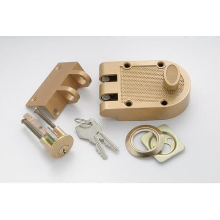 First Watch 1120 Single Cylinder Interlocking Deadbolt with Tamper-Resistant Shutter Guard