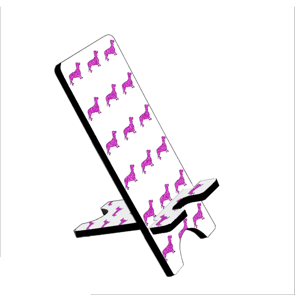 Dachshund Dogs Pink - KuzmarK Folding Stand fits iPad Mini iPhone Samsung Galaxy