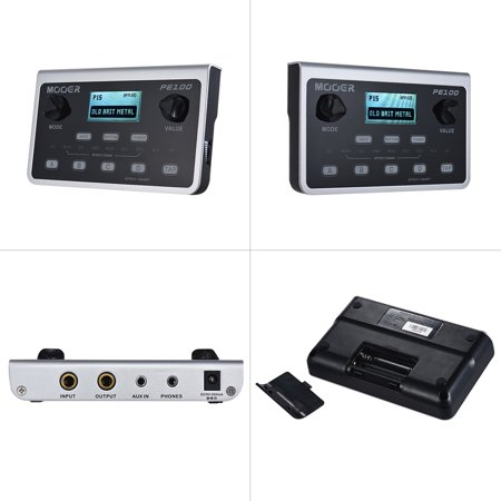 MOOER PE100 Portable Multi-effects Processor Guitar Effect Pedal 39 Effects 40 Drum Patterns 10 Metronomes Tap (Best Multi Effects Pedal For The Money)