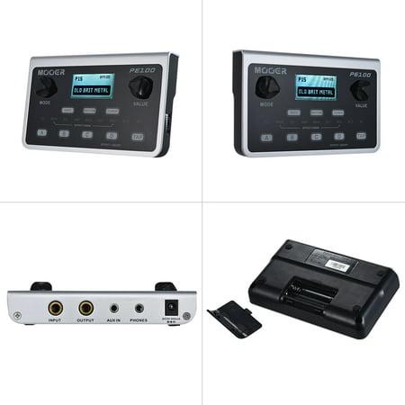 MOOER PE100 Portable Multi-effects Processor Guitar Effect Pedal 39 Effects 40 Drum Patterns 10 Metronomes Tap Tempo - image 3 de 7