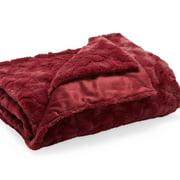 MoDRN Glam Sculpted Faux Fur Throw
