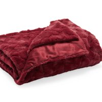 MoDRN Glam Sculpted Faux Fur Throw