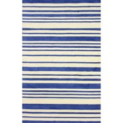 nuLOOM Hand-tufted Modern Stripes Blue/ Ivory New Zealand Wool Rug (5' x 8')