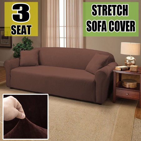 3-Seat Sofa Cover Washable Sofa Slipcover Soft Stretch Couch Cover  Protector Easy Fit Chocolate - Walmart.com