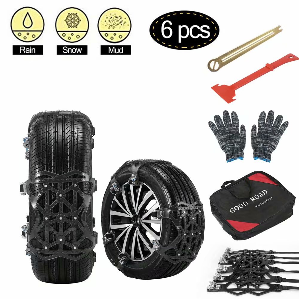 etc 205//75/×16 Anti-Skid Tires chains *2pcs Emergency Snow Chain for family car//SUV//MPV Size : 205//75/×16