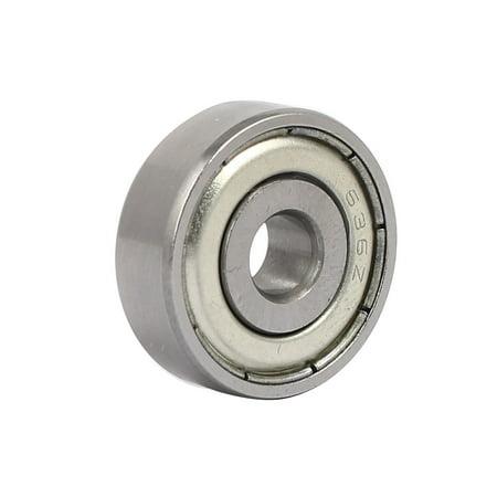636ZZ Steel Shielded Deep Groove Ball Bearings Silver Tone 22mmx6mmx7mm 10pcs - image 1 de 4
