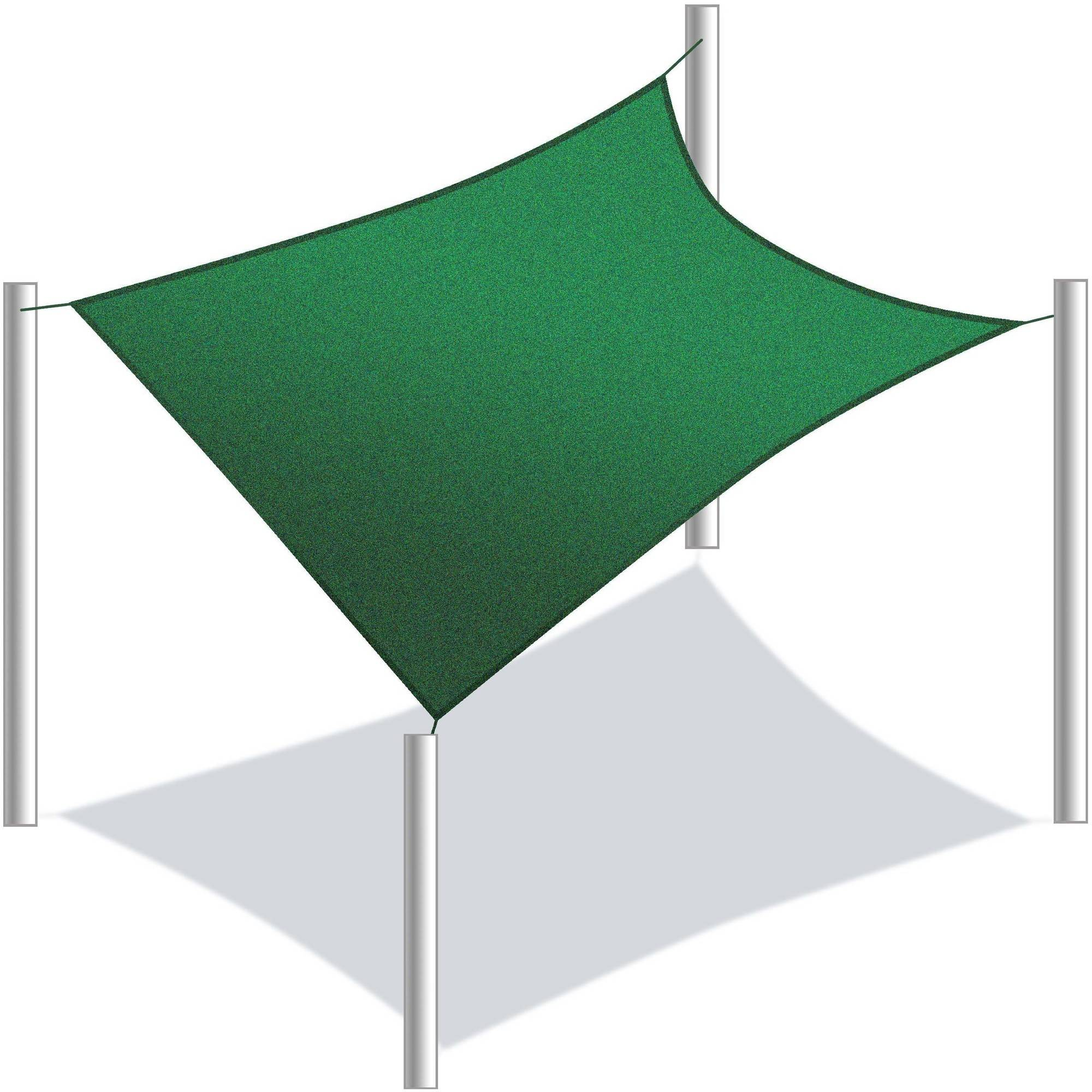 ALEKO Rectangle 10' x 10' Waterproof Sun Shade Sail Canopy Tent Replacement, Green by ALEKO