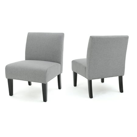 Kendal Fabric Accent Chair Set Of 2 Grey