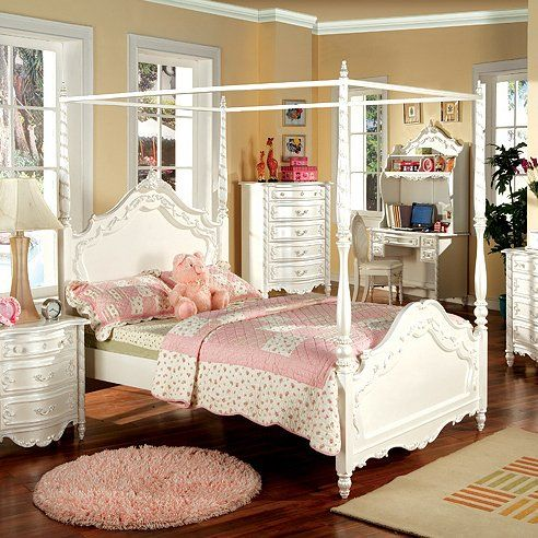 Furniture of America CM7519 Victoria Youth Poster Bed by Furniture of America
