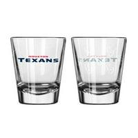 Boelter Brands Houston Texans Shot Glass 2 Pack Satin Etch by Boelter Brands