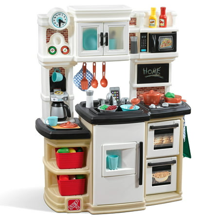 Step2 Great Gourmet Kitchen Tan with Storage Bins and Accessory
