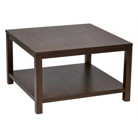 Avenue 6 Office Star Mrg12sr1 Esp Merge 30 In Square Coffee Table Espresso Finish