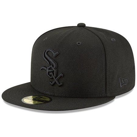 Chicago White Sox New Era Primary Logo Basic 59FIFTY Fitted Hat - Black