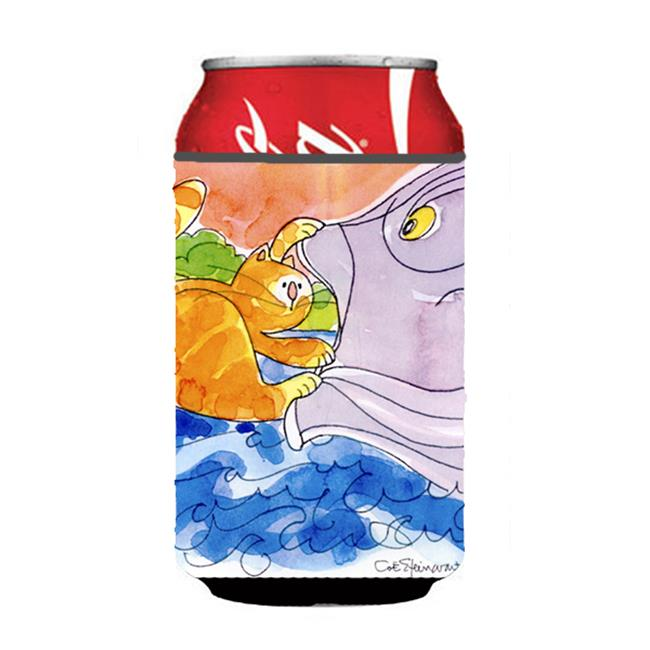 Cat And The Big Fish Can Or Bottle  Hugger - image 1 of 1