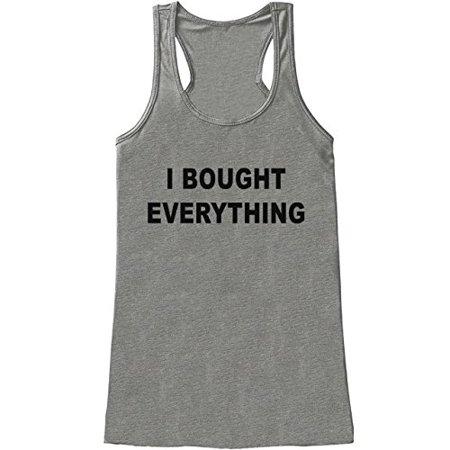 Womens I Bought Everything Black Friday Tank Top - Medium