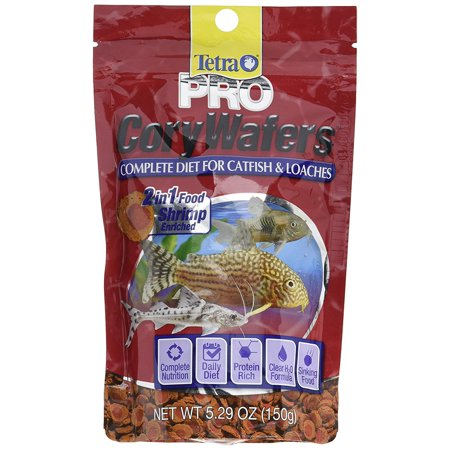 Tetra Variety Wafers - Tetra TetraPro Cory Wafers Catfish & Loaches Fish Food, 5.29 oz