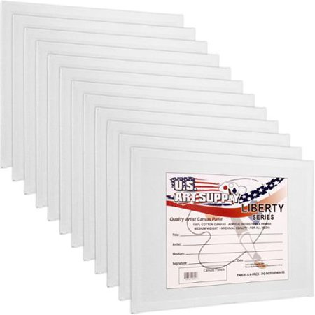 12 Pack Of U S  Art Supply 16  X 20  Professional Quality Canvas Panels Acid Free