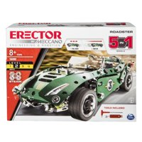Erector by Meccano Roadster 5-in-1 Building Kit, 174 Parts, STEM Engineering Education Toy for Ages 8 and Up
