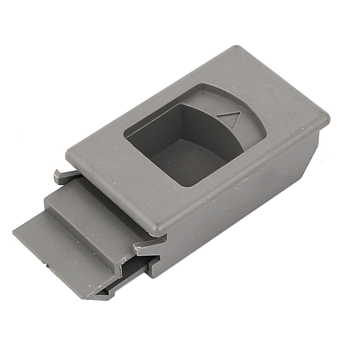 Window Door Inside Pull Rectangular Plastic Slide Latch Gray 61mm Long