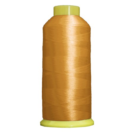 Threadart Polyester Machine Embroidery Thread  Huge 5000M (5500 Yard) Cones 40wt  For Brother Babylock Janome Bernina Embroidery & Sewing Machines  No. 156 - Pollen Gold - 160 Colors Available This high sheen polyester thread for machine embroidery has outstanding tensile strength and color-fastness. Polyester thread offers outstanding performance for today's sophisticated computerized sewing machines. 5000m king size cones (2200yds)  100% Polyester. 40 wt.